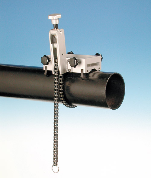 Pipe clamp systems for magnetic drills